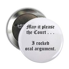 "rocked argument 2.25"" Button (10 pack)"