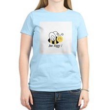 Bee Happy Women's Pink T-Shirt