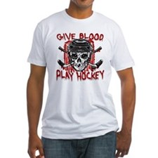 Give Blood Hockey Black Shirt