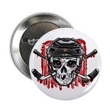 "Give Blood Hockey Black 2.25"" Button"