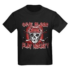 Give Blood Hockey Red T