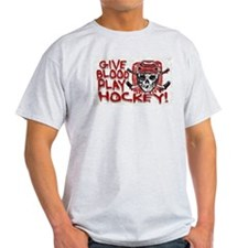 Give Blood Hockey Red T-Shirt