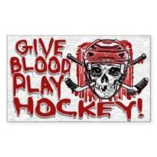 Give Blood Hockey Red Decal
