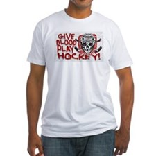 Give Blood Hockey White Shirt