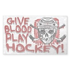 Give Blood Hockey White Decal