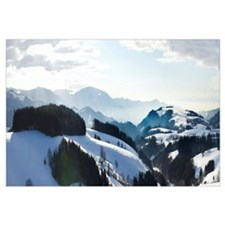 Snow covered landscape, St. Margen, Black Forest,