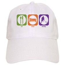 Eat Sleep Hockey Baseball Cap