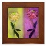Framed Tile-Flowers