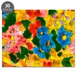 Puzzle Abstract Watercolor Painting
