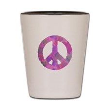 PURPLE HEART PEACE SIGN Shot Glass