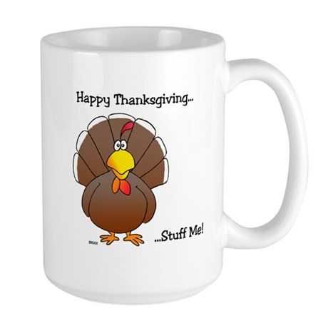 'Happy Thanksgiving' Large Mug