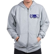 Eat, Sleep, Play Badminton Zip Hoodie