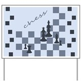 Chess King and Pieces Yard Sign