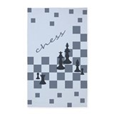 Chess King and Pieces 3'x5' Area Rug