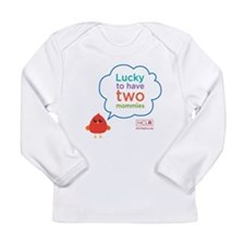 Lucky to have Two Mommies Long Sleeve Infant T