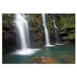 Hawaii, Maui, Hana, The Three Waikani Falls With A