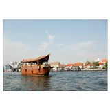 Tourboat in a river, Chao Phraya River, Bangkok, T