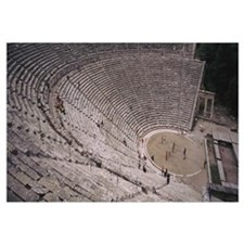Tourists at an amphitheater, Epidaurus, Greece