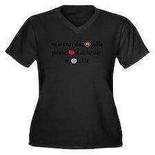 Not Disposable Plus Size T-Shirt