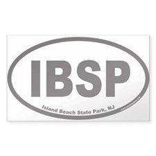 IBSP Island Beach State Park Euro Oval Decal