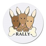 "Rally Pup 5.5"" Car Magnet"
