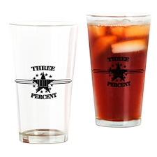 Three Percent Stars and Stripes Drinking Glass