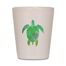 GREEN SEA TURTLE Shot Glass