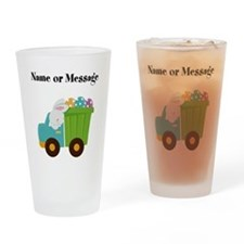 Easter Bunny Dump Truck Drinking Glass