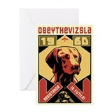 Hungarian vizsla Greeting Cards