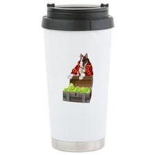 English Bull Terrier Pirate Ceramic Travel Mug