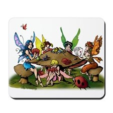 Fairies Playing Poker Mousepad