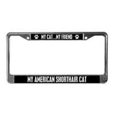 American Shorthair Cat License Plate Frame