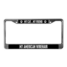 American Wirehair License Plate Frame