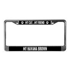 Havana Brown License Plate Frame