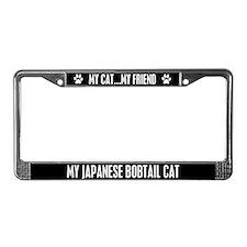 Japanese Bobtail Cat License Plate Frame