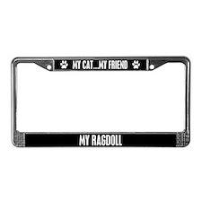 Ragdoll License Plate Frame