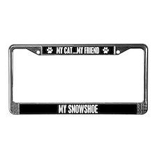 Snowshoe License Plate Frame