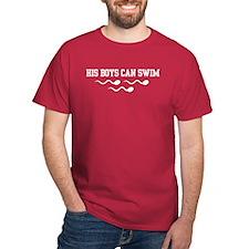 His Boys Can Swim T-Shirt