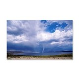 Tornado over desert lake Car Magnet 20 x 12