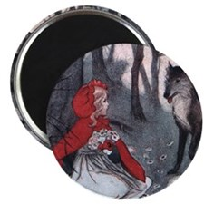 Cute Little red riding hood Magnet