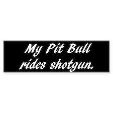My Pit Bull rides shotgun (10 pk)