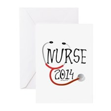 Nurse 2014 Stethoscope Greeting Cards (Pk of 10)