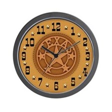 Texas Branded Leather Wall Clock