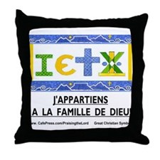 Francais: La Famille Throw Pillow