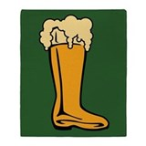 Beer Boot Throw Blanket