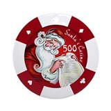 &quot;Santa's Casino&quot; $500 Chip Ornament