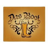 Das Boot Of Beer Throw Blanket