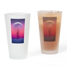 Pink Eclipse Drinking Glass