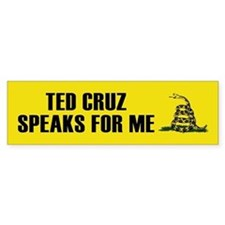 Ted Cruz Speaks For Me Bumper Car Sticker