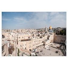 Wailing Wall, Dome Of the Rock, Temple Mount, Jeru